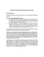 Multi-state drug-purchasing cooperative evaluation : report to the Executive Committee of the Legislative Council and the Health, Environment, Welfare and Institutions Committees of the Senate and the House of Representatives