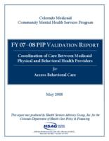 Coordination of care between Medicaid physical and behavioral health providers for Access Behavioral Care