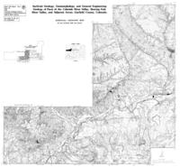Surficial geology, geomorphology, and general engineering geology of parts of the Colorado River valley, Roaring Fork River valley, and adjacent areas, Garfield County Colorado