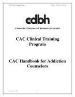 CAC handbook for addiction counselors