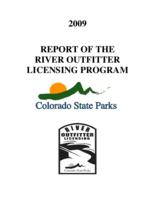 2009 report of the River outfitter licensing program