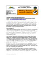 Whirling disease : information and status, BMPs