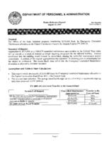 Governor's budget balancing plan for FY2009-2010. Department of Personnel and Administration, part 2