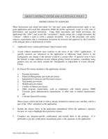Contract procedures and management manual. Annex B: Grant Contract Offer and Acceptance Policy