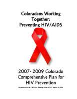 2007-2009 Colorado comprehensive plan for HIV prevention