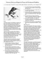 Colorado Developmental Disabilities Services accountability focus series. Outcomes of services and supports. Part 6: Community Supported Employment