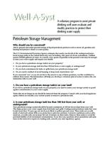 Well-A-Syst : wellhead assessment system. Petroleum Storage Management