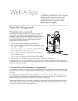 Well-A-Syst : wellhead assessment system. Pesticide Management