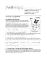 Well-A-Syst : wellhead assessment system. Fertilizer Management