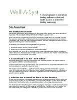 Well-A-Syst : wellhead assessment system. Site Assessment