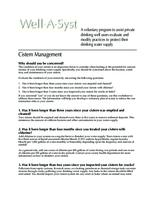 Well-A-Syst : wellhead assessment system. Cistern Management