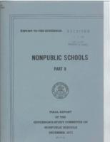 Nonpublic schools. Part II