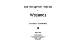 Best management practices for wetlands within Colorado state parks. Cover