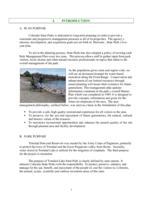 Trinidad Lake State Park : management plan update, 2001