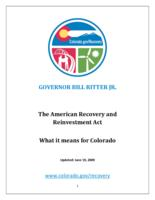 The American Recovery and Reinvestment Act : what it means for Colorado