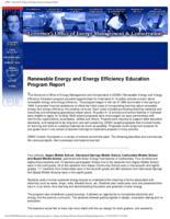 Renewable energy and energy efficiency education program report