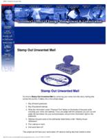 Stamp out unwanted mail