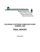 Colorado statewide homeless count summer, 2006, final report