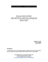 Film industry growth & development 2005-2007