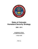 State of Colorado homeland security strategy 2008-2013