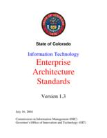 Information technology enterprise architecture standards