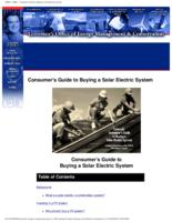 Colorado consumer's guide to buying a solar electric system : including information on the COSEIA Solar Rebate Program