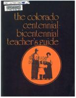 Colorado centennial-bicentennial teacher's guide