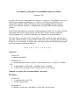 Colorado glossary to standards based education