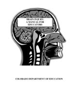 Brain injury : a manual for educators
