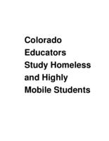 Colorado educators study homeless and highly mobile students