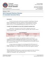 2012 general election review : a Colorado success story
