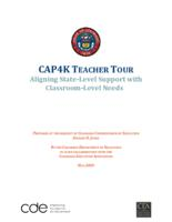 CAP4K teacher tour : aligning state-level support with classroom-level needs