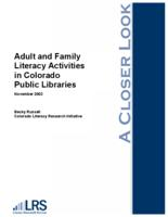 Adult and family literacy activities in Colorado public libraries
