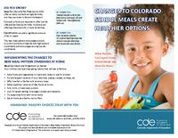 Changes to Colorado school meals create healthier options : what parents can expect from school meals and ideas from home