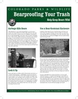 Bearproofing your trash : help keep bears wild