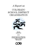 A report on Colorado school district organization