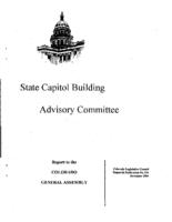 Annual report FY 2003-04, State Capitol Building Advisory Committee : report to the Colorado General Assembly