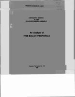 An analysis of 1968 ballot proposals