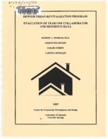 Denver urban revitalization program : evaluation of year one collaborator and resident data