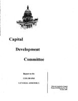 Capital Development Committee : report to the Colorado General Assembly