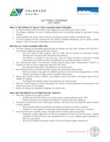 Alt Fuels Colorado fact sheet