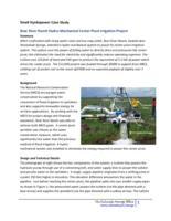 Small hydropower case study. Bear River Ranch hydro-mechanical center pivot irrigation project