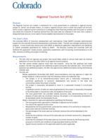 Colorado Regional Tourism Act (RTA)