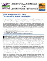 Front Range urban 2010 groundwater monitoring report