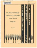 Colorado Wheat-jointed Goatgrass Task Force report