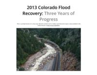 2013 Colorado flood recovery : three years of progress
