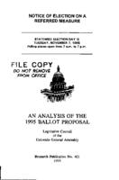 An analysis of the 1995 ballot proposal