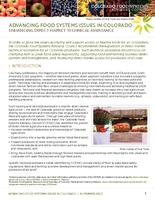 Advancing food systems issues in Colorado. Enhancing direct market technical assistance