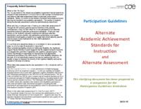 Alternate academic achievement standards for instruction and alternate assessment