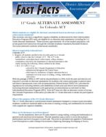11th grade alternate assessment for Colorado ACT